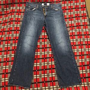 Lucky Brand Jeans Men Savage Bootleg Dungaree 33